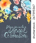 invitation card for wedding... | Shutterstock .eps vector #267595367