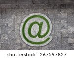 email sign in grass on walkway   Shutterstock . vector #267597827