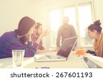 young group of people... | Shutterstock . vector #267601193