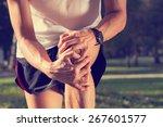 jogging injury. warp up before... | Shutterstock . vector #267601577