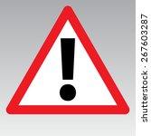 warning sign | Shutterstock .eps vector #267603287