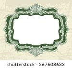 vintage floral frame for... | Shutterstock .eps vector #267608633