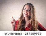 happy girl smiling  | Shutterstock . vector #267609983