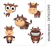 Cartoon Funny Cows. Collection...