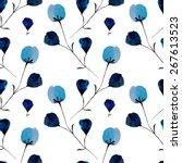 seamless floral pattern.... | Shutterstock .eps vector #267613523