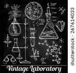 hand drawn science beautiful... | Shutterstock .eps vector #267614033