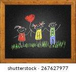 happy kids   Shutterstock . vector #267627977