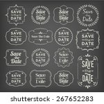 save the date   collection of... | Shutterstock .eps vector #267652283