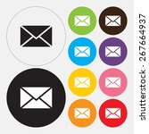 email icon   vector | Shutterstock .eps vector #267664937