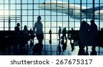 international airport communter ... | Shutterstock . vector #267675317