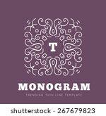simple and graceful monogram... | Shutterstock . vector #267679823
