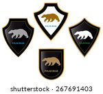 bears and billboards with the... | Shutterstock .eps vector #267691403