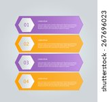 business infographics template... | Shutterstock .eps vector #267696023