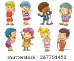 set of child activities... | Shutterstock .eps vector #267701453