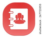 notebook  address  phone book... | Shutterstock .eps vector #267723353