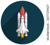 Space Shuttle  Flat Design ...