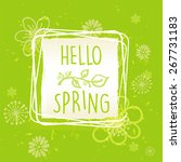 hello spring in frame with... | Shutterstock .eps vector #267731183