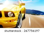 yellow sport car | Shutterstock . vector #267756197