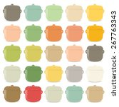 group colorful pots on the... | Shutterstock .eps vector #267763343