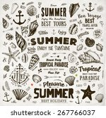 set of summer elements ... | Shutterstock .eps vector #267766037