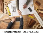 architect and customer... | Shutterstock . vector #267766223