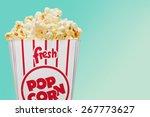 Popcorn  Unhealthy Eating  Box.