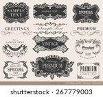typography  calligraphic design ... | Shutterstock .eps vector #267779003