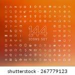 universal modern icons for web... | Shutterstock .eps vector #267779123