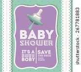 baby shower design over white... | Shutterstock .eps vector #267781883