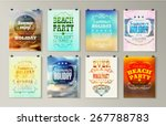 typographical poster  retro... | Shutterstock .eps vector #267788783