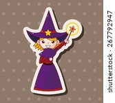 witch cartoon theme elements   Shutterstock .eps vector #267792947