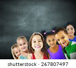 children kids diversity... | Shutterstock . vector #267807497