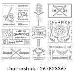 baseball badges and icons | Shutterstock .eps vector #267823367