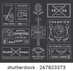 baseball badges and icons | Shutterstock .eps vector #267823373