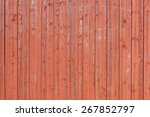 Wooden Red Background With...