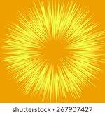 vintage yellow sunburst | Shutterstock .eps vector #267907427