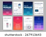 template. vector brochure... | Shutterstock .eps vector #267913643