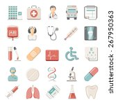 flat icons   medical | Shutterstock .eps vector #267950363