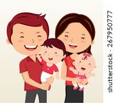 cheerful family smiling. happy... | Shutterstock .eps vector #267950777