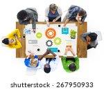 team teamwork cog functionality ... | Shutterstock . vector #267950933