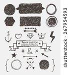 rough sketch design elements | Shutterstock .eps vector #267954593