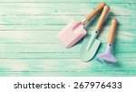 colorful garden tools for kids... | Shutterstock . vector #267976433
