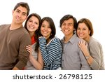 happy group of friends isolated ... | Shutterstock . vector #26798125