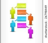 global communication   chat... | Shutterstock .eps vector #26798449