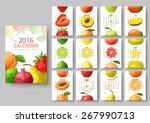 wall calendar 2016   polygonal... | Shutterstock .eps vector #267990713