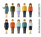 man and woman flat style people ... | Shutterstock .eps vector #268018373