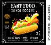 fast food restaurant poster... | Shutterstock .eps vector #268018583