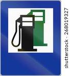 polish traffic sign  gas...   Shutterstock . vector #268019327