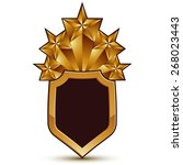 sophisticated blazon with a... | Shutterstock . vector #268023443