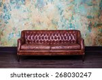 leather sofa | Shutterstock . vector #268030247